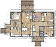Bungalow, Future House, House Plans, Sweet Home, Floor Plans, Flooring, How To Plan, Sims 4, Apartments
