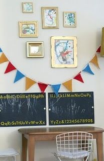10 awesome ideas on how to display children's artwork!