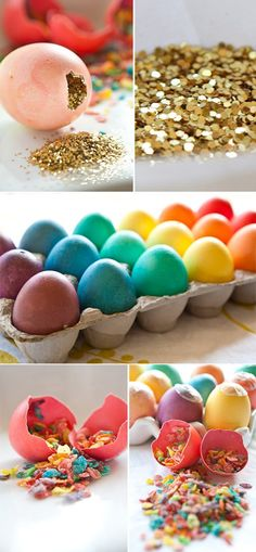 DYI confetti eggs-These look really cool and I am sure the kids would love them but just thinking about the clean up (unless they were opened outside) makes me want to poke my eyes out.