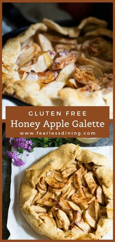 This Gluten Free Apple Galette is the best gluten free galette recipe to make with fall apples. Sweetened with honey, it makes a deliciously easy dessert. Gluten Free Apple Pie, Best Gluten Free Desserts, Gluten Free Pie Crust, Gluten Free Dinner, Foods With Gluten, Apple Pie Recipes, Fall Recipes, Dinner Recipes, Dessert Recipes
