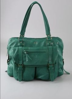 Jerome Dreyfuss Jacky Green Leather Tote Handbag (sold out!) #JeromeDreyfuss #TotesShoppers