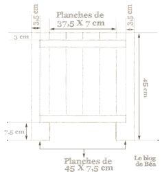 DIY tabouret coffre en bois de palette