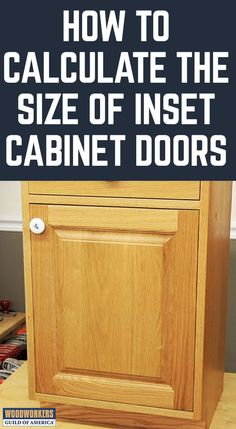 Master the science of properly sizing inset cabinet doors. Of all the available door types, inset can be the most challenging to size because the tolerances are extremely finicky. Too tight and the door can stick; too loose and they don't look right. Designing the rails and stiles so that they fit appropriately can present a challenge, even for the most experienced woodworker.