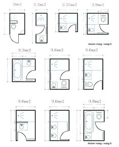 25 Best Small Bathroom Floor Plans images in 2019 | Bathroom ...