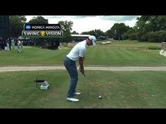 A closer look at Adam Scott's iron tee shot at Crowne Plaza