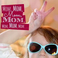 """Ever wish your kids would stop NEEDING you so much?? Here's a helpful (and real) perspective for moms everywhere. Consider it your remedy for the """"momma wants to hide away"""" syndrome. """"Mom, Mom, Mom, Mom, Mom, Mom, Mom"""" from Time Out with Becky Kopitzke - Christian devotions, encouragement and advice for moms."""