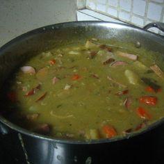 Traditional Dutch Pea Soup (a.k.a. Snert)