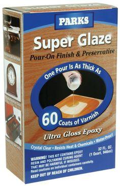 Amazon.com: Rust-Oleum 241352 Parks Super Glaze Ultra Crystal Pour On Epoxy Finish Kit, Clear Gloss: Home Improvement