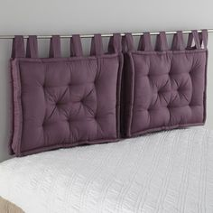 Headboard Cushion LA REDOUTE INTERIEURS Cushion headboard, beautifully finished with large knots that give it a charm. Pillow Headboard, King Size Headboard, Bed Pillows, Make Your Own Headboard, Head Boards, Leather Bed, Bed Back, Headboard Designs, Dream Home Design