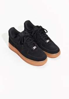 & Other Stories image 2 of Nike Air Force 1 '07 Suede in Black