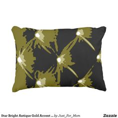Star Bright Antique Gold Accent Pillow by Janz