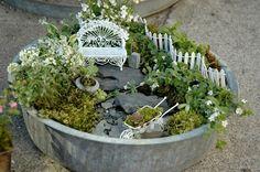 container fairy garden
