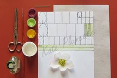 What I have used: vodka – toothpick – scissors – wafer paper – edible glue – edible powder colors (as an alternative cocoa powder and turmeric) My paper pattern measures half A4 sheet. In green what I have used for the pistils. You can prepare the...