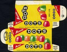 Mason - DOTS - 1 1/8 oz candy box - 1970's