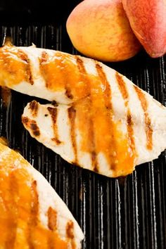 Grilled Tilapia with Peach BBQ Sauce