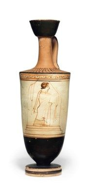 An Attic White Ground Lekythos Attributed To The Tymbos Painter Circa 460 B C Painter