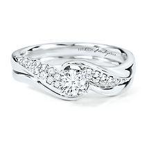 Helzberg Diamond Masterpiece® 1/2 ct. tw. Diamond Engagement Ring Set in 18K Gold