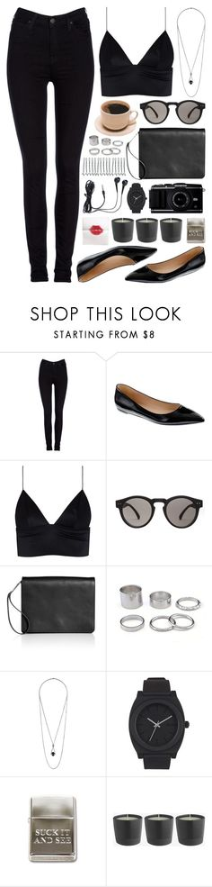 """""""September Morning"""" by deca-froses ❤ liked on Polyvore featuring Lee, J.Crew, T By Alexander Wang, Illesteva, Maison Margiela, Topshop and Nixon"""
