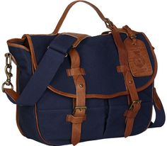 7f4cbfeb6f34 Polo Ralph Lauren Canvas Messenger Bag in Blue for Men (Navy) Canvas  Messenger Bag