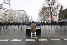 Pianist in Kiev. December 2013