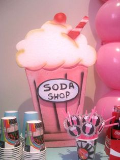 Sock Hop 50'S Theme diner Birthday Party Ideas | Photo 1 of 21 | Catch My Party