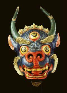 Dance Mask Bhairava, Mongolia; 20th century? Papier-mâché. Rubin Museum of Art C2006.52.10 (HAR 65716).