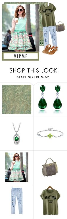 """""""VIPme: Green"""" by pandalover22 ❤ liked on Polyvore featuring Topshop and vipme"""
