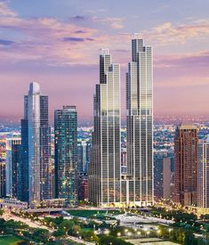 Renderings of planned South Loop skyscrapers superimposed on the skyline give a glimpse of the future.
