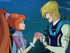 Sky and Bloom Bloom Winx Club, Les Winx, Love Scenes, Movie Couples, Cartoon Shows, Illustrations And Posters, Narnia, Disney Love, My Childhood