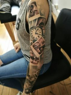 portrait tattoos for women thighs * portrait tattoos for women thighs Family Sleeve Tattoo, Portrait Tattoo Sleeve, Arm Sleeve Tattoos, Sleeve Tattoos For Women, Tattoo Ink, Portrait Tattoos, Music Tattoo Sleeves, Mother Tattoos, Baby Tattoos