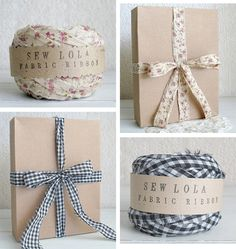 fabric ribbon for gift wrapping, pretty.