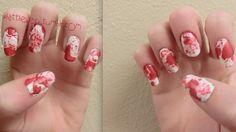 bloody splatter nails