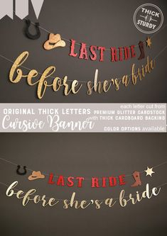 Bachelorette parties 155303887189947632 - last ride before she's a bride, rodeo bachelorette party banner, western theme party, nash bash, cow Source by etsy Bachlorette Party Themes, Cowgirl Bachelorette Parties, Bachelorette Party Banners, Bachelorette Party Decorations, Bachelorette Nashville, Bachelorette Ideas, Bachelorette Weekend, Western Bridal Showers, Bash