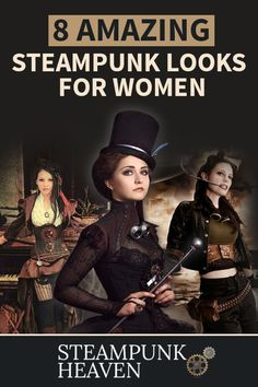 8 Amazing Steampunk Looks For Women - Cosplaystyle Ideas Women Style Steampunk, Steampunk Couture, Steampunk Cosplay, Steampunk Wedding, Victorian Steampunk, Steampunk Diy, Steampunk Clothing, Steampunk Makeup, Steampunk Fashion Women