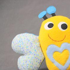 Motyl - przytulanka, mini poduszka-rękodzieło / Butterfly - hand made toy, minipillow
