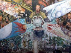 Palacio de Bellas Artes - Mural El Hombre in cruce de caminos Rivera 3 - Social realism - Wikipedia Diego Rivera, Rembrandt, Chaim Soutine, Social Realism, Rockefeller Center, Nelson Rockefeller, Encaustic Painting, Mexican Art, Famous Artists