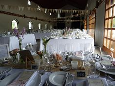 Mount Soho Venue bunting and hessian runners