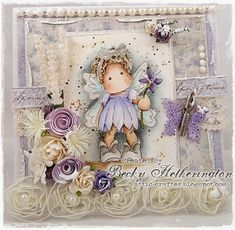 Cards By Becky: Add Lace at The Ribbon Girl Magnolia Challenge
