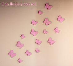 Decoración infantil personalizada y letras decorativas: MARIPOSAS DECORATIVAS DE PARED