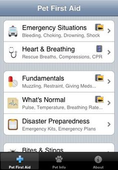 Be prepared with the Pet First Aid app and you'll have instant access to clear, concise advice for common pet emergencies. With detailed articles, videos, and illustrations, you'll know exactly how to care for your pet. $3.99