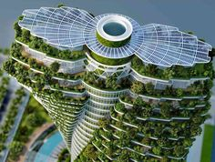 Gallery of Vincent Callebaut Architectures' Double Helix Eco-Tower Takes Shape in Taiwan - 24 #greenroof