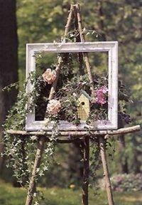 Garden Junk, Garden Yard Ideas, Lawn And Garden, Garden Beds, Diy Art Projects, Diy Garden Projects, Garden Crafts, Art Crafts, Rustic Gardens