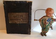 SKIPPING TOY DOLL IN ORIGINAL BOX WINDUP WORKING WELL