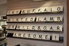 Gourmet Burger Kitchen (Battersea, London) Cool idea!