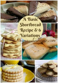 A Basic Shortbread Recipe & 6 Tea-Time Variations Healthy Dessert Recipes, Real Food Recipes, Cookie Recipes, Breakfast Dessert, Dessert For Dinner, Shortbread Recipes, Tasty, Yummy Food, Allergy Free Recipes