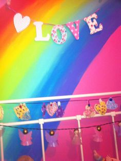 every little girl should have a rainbow in their room