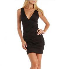 V-Neck Ruched Dress in love!