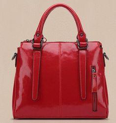 Genuine Oil Leather Women's Handbag