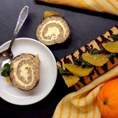"""Kateřina Gallinová on Instagram: """"Hazelnut swiss roll with orange buttercream and chocolate icing / Lískooříšková roláda s pomerančovým máslovým krémem a čokoládovou polevou…"""""""