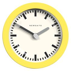 ANDROMEDA Yellow wall clock